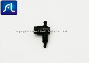 Black Plastic Flow Control Valve Eco Friendly Light Weight OEM Available